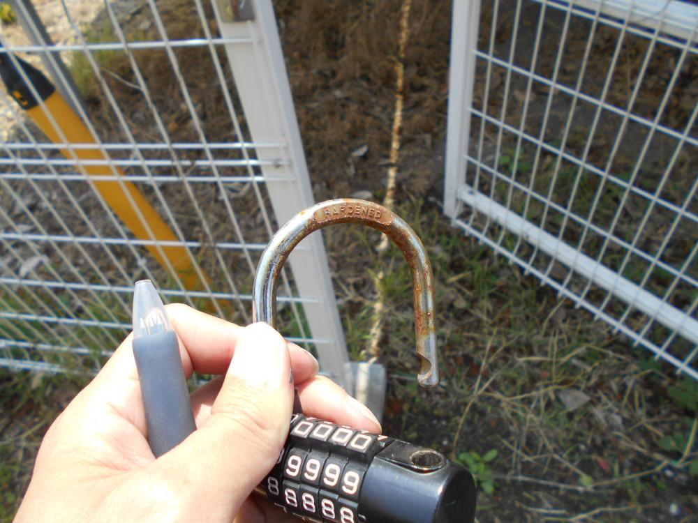 施錠の鍵の錆