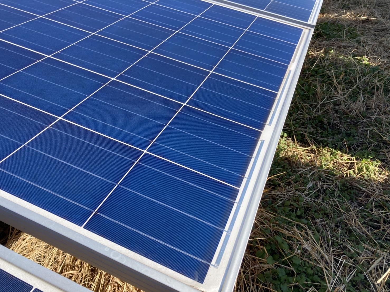 太陽光発電 ソーラーパネル洗浄